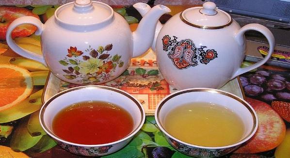 Чай черный Чай зеленый