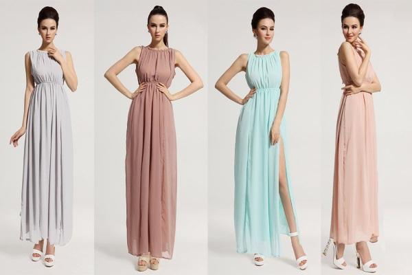 платья макси платье в пол