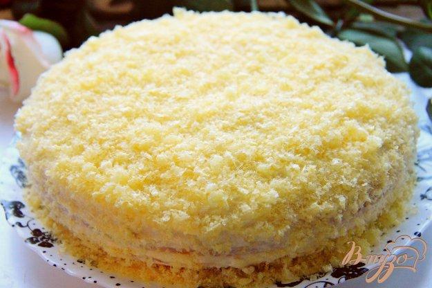 Бисквитный торт с заварным кремом рецепт с фото